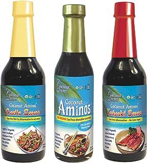 Coconut Secret Coconut Aminos Variety Pack – Coconut Aminos Original, Garlic Sauce..