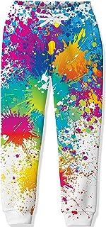 Loveternal Pantalones de Chándal para Niños Pantalones de Chándal para Niños y Niñas Pantalones Estampados en 3D con Cordó...