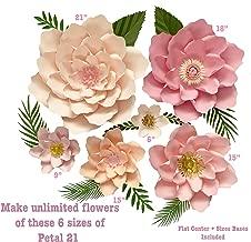 Best paper flower templates Reviews