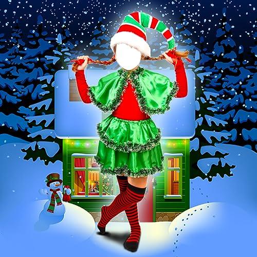 Weihnachten Kinder-Foto-Montage