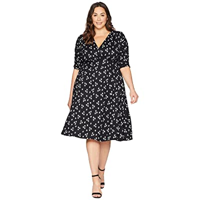 Kiyonna Gabriella Dress (Retro Dot Floral) Women