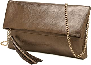 bronze clutch purse