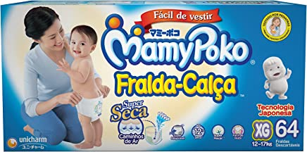 Fralda-Calça MamyPoko tamanho XG, pacote contendo 64 unidades