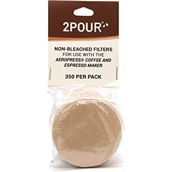 350x (1 Pack) Reusable Replacement Paper Filters for Use with The Aeropress Coffee Maker - Vegan Non Bleached Natural - Free USA Shipping available!