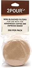 350 x 2POUR Filters - for use in The AeroPress Coffee Maker - Non Bleached Natural
