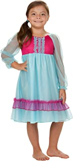 Girls Frozen Ice Princess Anna Two-Tone Frilly Gown, (7-14)