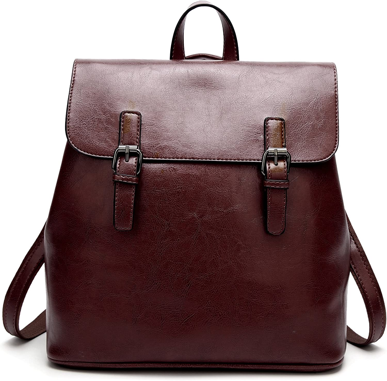 Leng QL Personality Backpacks Fashion Ladies Shoulder Bag PU Leather Backpack Travel Bag