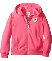 Converse Kids - CTP Rib Panel Front Zip (Toddler/Little Kids)
