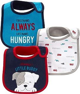 Carter's Child of Mine Baby Boys' 3 Pack Bibs (Navy Blue Puppy)