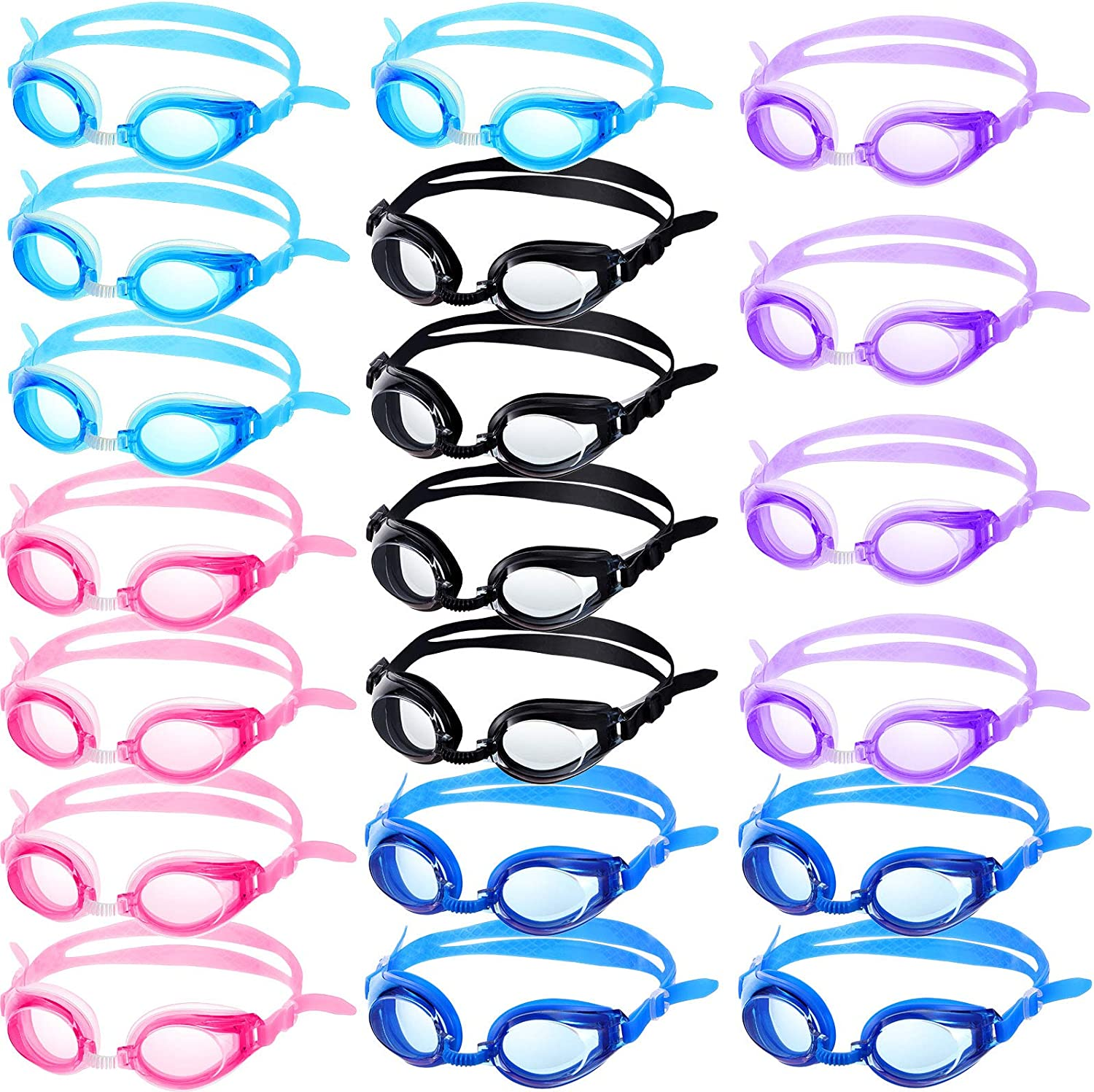 20 Pairs Kids Swimming Goggles Japan's Milwaukee Mall largest assortment Leaking No View Swim Wide