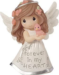 Precious Moments Inspirational Angels Forever in My Heart Resin 183428 Figurine One Size Multi