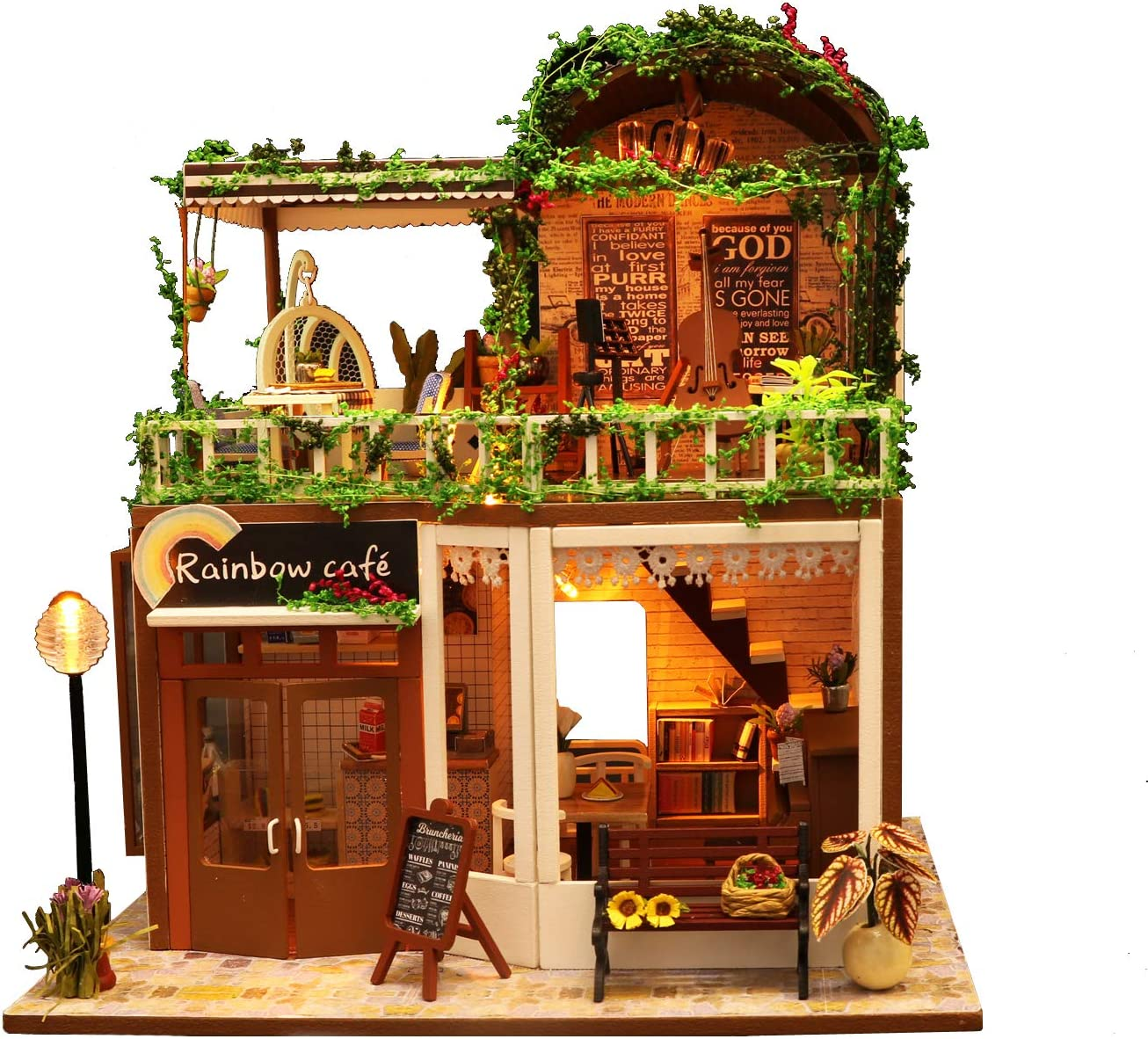 Flever Dollhouse Miniature DIY House Room Furn Kit discount Popular brand in the world with Creative