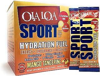 Ola Loa Sport Mango Tangerine All-Natural Hydrating Sports Drink Mix - Energy, Amino Acids, Electrolytes, Vitamin C, Vitam...