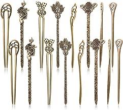 16 Pieces Hair Sticks for Women Hair Pins Chinese Hair Chopsticks Retro Vintage Decorative