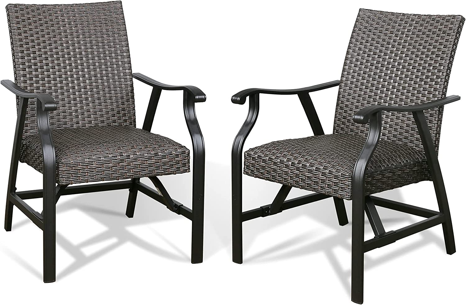 PATIO Max 48% OFF TREE Outdoor Rattan Dining Rocki Patio Chairs with Armrest trend rank