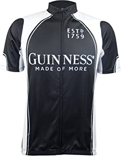 Guinness Short Sleeve Performance Bike Shirt with Full Zip and Sublimated Graphics
