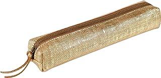 Clairefontaine 410030C - Astuccio slim Kleo-Pathra, 19,5 x 2,5 x 4 cm, in vera pelle di agnello, colore: bronzo