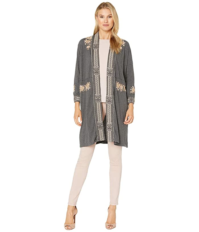 Vintage Coats & Jackets | Retro Coats and Jackets Johnny Was Marushka Knit Duster Coat Charcoal Grey Womens Clothing $107.50 AT vintagedancer.com