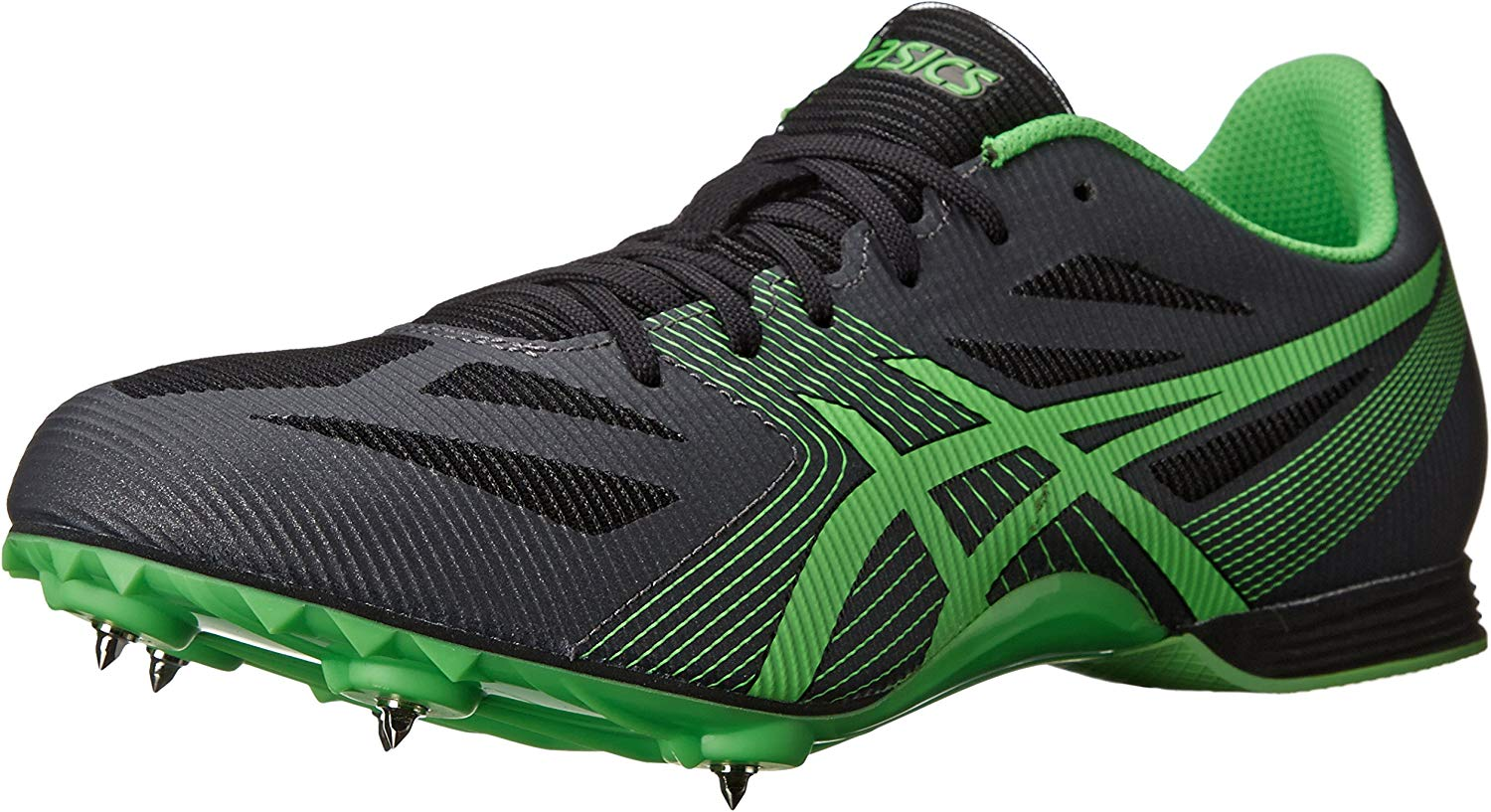 ASICS Men's Hyper MD 6 Track e Field sautope,Charcoal Flash verde Onyx,10.5 M US