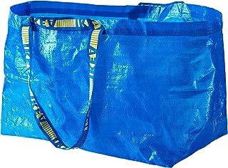Ikea 172.283.40 Frakta Shopping Bag, Large, Blue, Set of 10