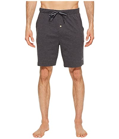 Nautica Knit Sleep Shorts (Charcoal Heather) Men