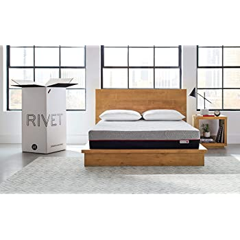 Amazon Brand – Rivet Mattress - Supportive Pressure Relief Memory Foam with Celliant Cover for Restorative Sleep, 10-Inch Height, Full
