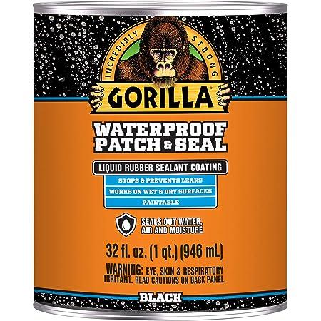 Gorilla Waterproof Patch & Seal Liquid, Black, 32 Ounces (Pack of 1)