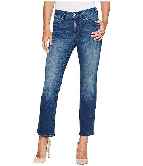 Marilyn Straight Ankle Jeans In Crosshatch Denim In Anson, Anson