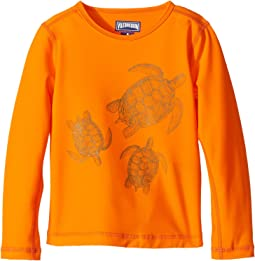 Vilebrequin Kids Sharkskin Turtle Rashguard (Toddler/Little Kids/Big Kids)