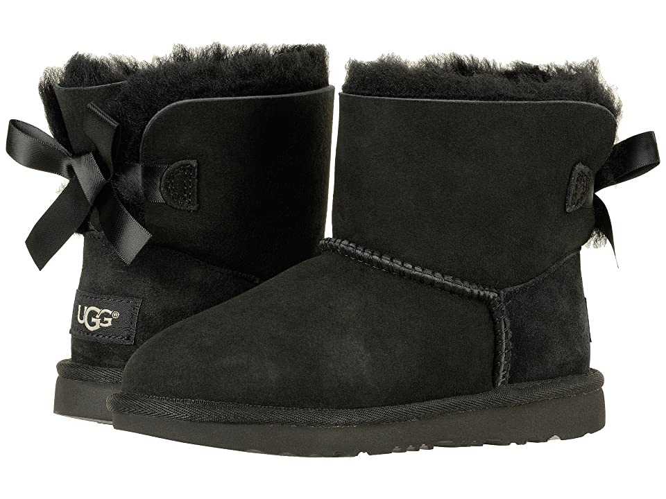 UGG Kids Mini Bailey Bow II (Little Kid/Big Kid) (Black) Girls Shoes