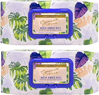 Sponsored Ad - Beauty Concepts Coconut and Tangerine Face Wipes & Makeup Remover Wipes - 2 Pack (60 Count Each) of Gentle ...