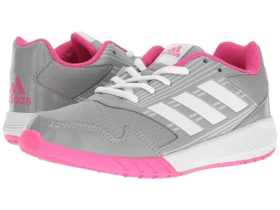 adidas Kids AltaRun (Little Kid/Big Kid) (Clear Grey/White/Shock Pink) Girls Shoes