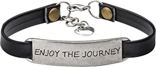 Yiyang Motivational Jewelry Gift Leather Bracelet for...