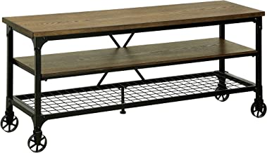 """HOMES: Inside + Out ioHOMES Engels Industrial 54"""" TV Stand, Medium Oak"""