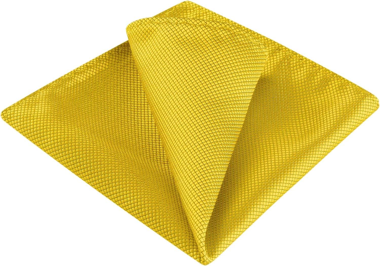 Allegra K Men's Handkerchiefs Pocket Squares Solid Color Classic Little Grid for Wedding Business