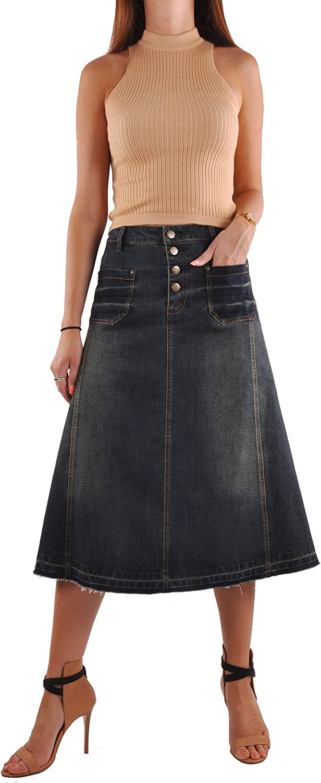 Style J Everyday Vintage Jean Skirt