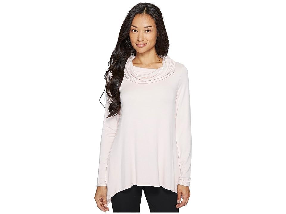 Ivanka Trump Cowl Neck Knit Long Sleeve Pullover Shirt (Blush) Women's Long Sleeve Pullover, Pink