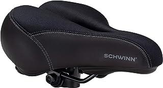 Schwinn Commute Gateway Adult Gel Bike Seat, Saddle with Pressure Relief Channel, Black