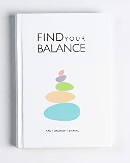 Find Your Balance - Undated Daily Planner and Journal Schedule Your Day To-Do List and Productivity Tracker Gratitude Jour...