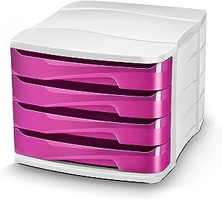 White//Purple CEP Isis Bicolor 4 Drawer Unit