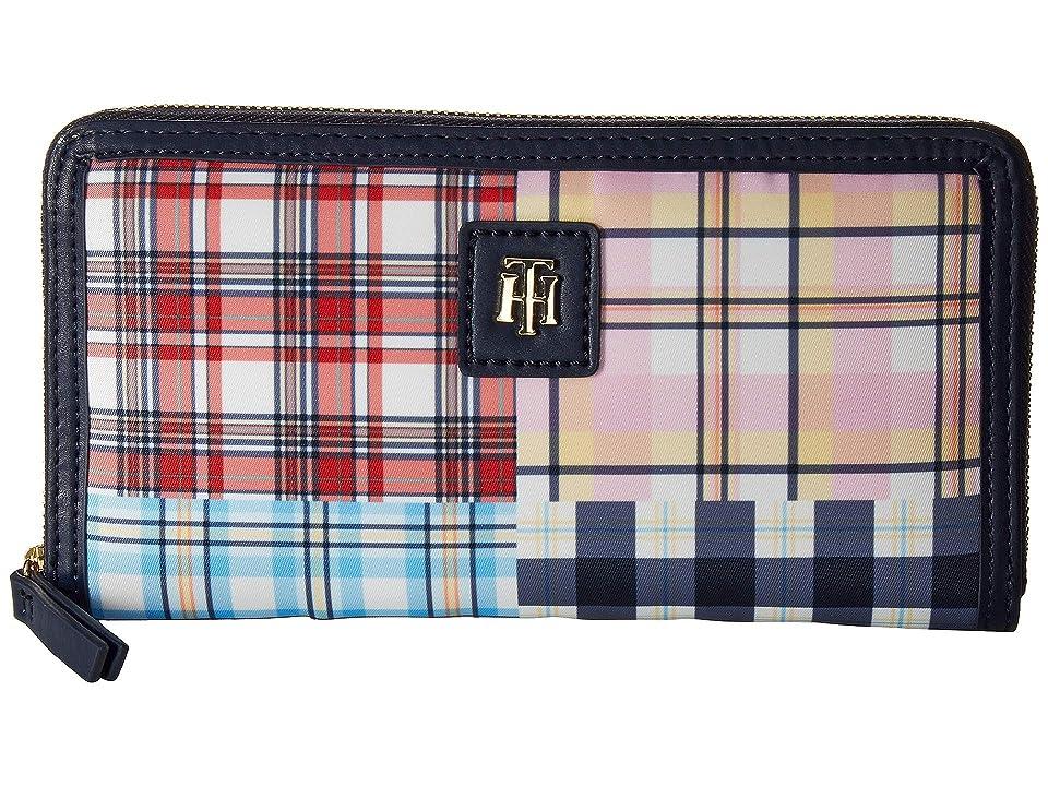 Tommy Hilfiger Julia Patchwork Zip Wallet (Navy/Multi) Wallet Handbags