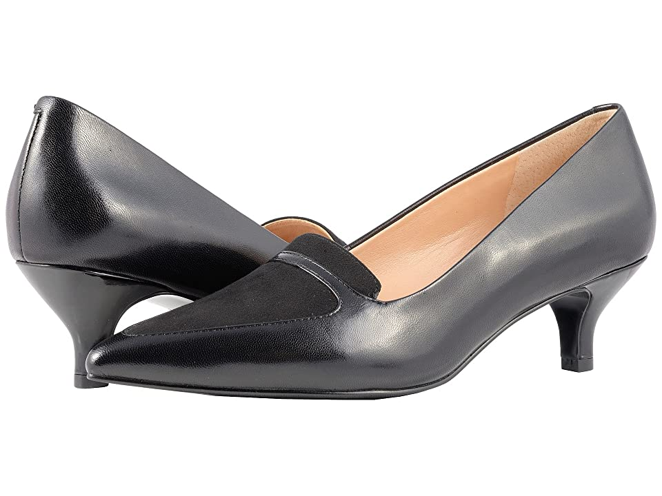 Trotters Piper (Black Leather/Suede) Women