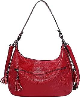 Womens Handbags Soft Leather Hobo Shoulder Bag Ladies Crossbody Tote Purses with Tassel