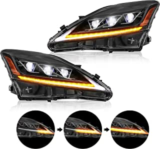 MOSTPLUS Full LED Projecctor Headlight For Lexus IS350 IS250 2006-2012 w/sequential turn light (Set of 2)