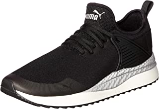 PUMA Women's Pacer Next Cage St2 Blk-blk-wh Shoes, Black Black-Whisper