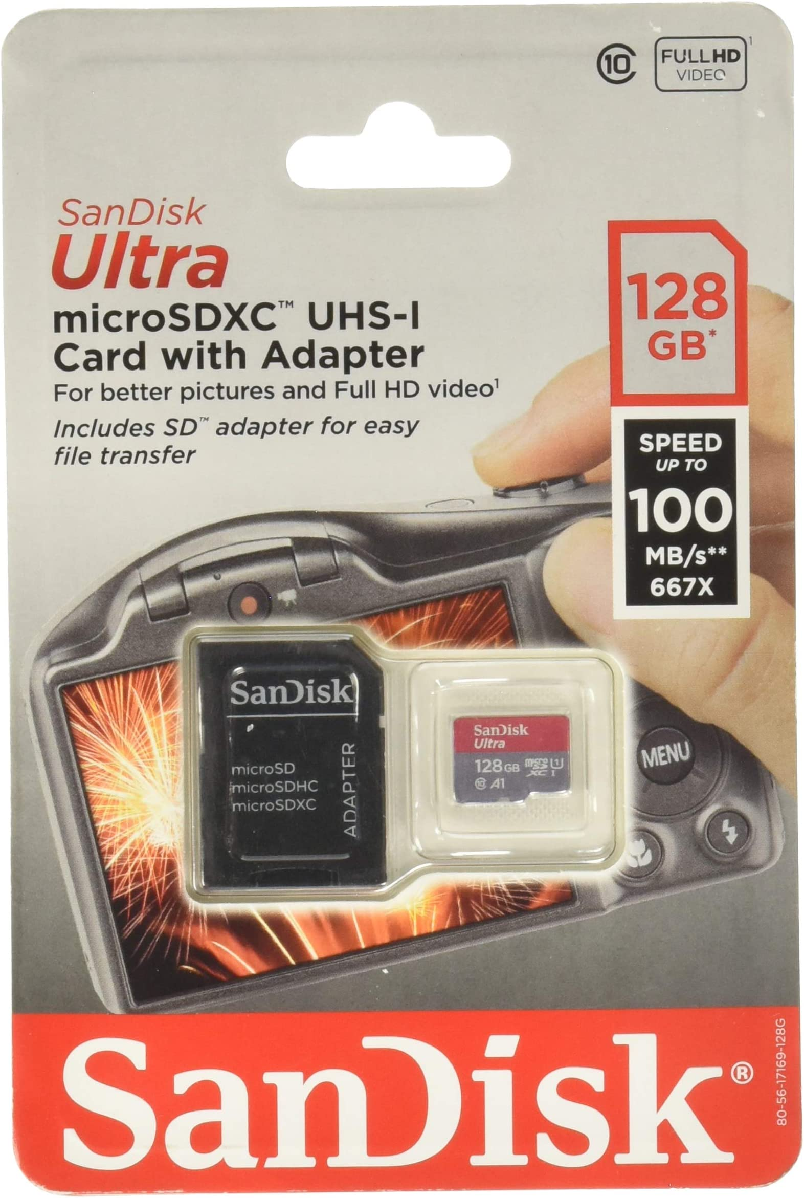 100MBs A1 U1 Works with SanDisk SanDisk Ultra 128GB MicroSDXC Verified for HTC Touch Dual by SanFlash