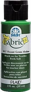 FolkArt 4417 Fabric Brush On Acrylic Paint, 2 oz, Hauser Green Medium