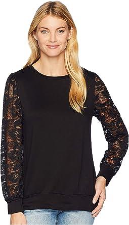 Long Sleeve Lace Sweatshirt