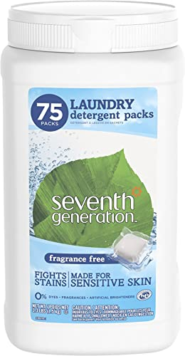 Seventh Generation Laundry Detergent Fragrance Free 75 Count