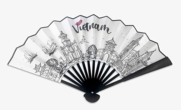Artbook Fabric Hand Fan Vietnam